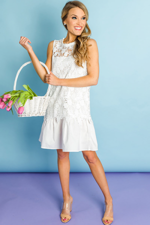 White Layers Lace Dress