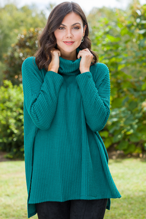 Cowl Thermal Tunic, Green