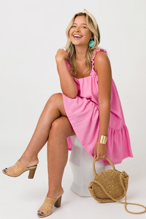 Mary Beth Tie Back Dress, Pink