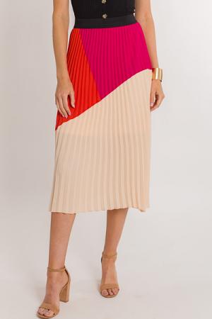 70's Chic Midi Skirt