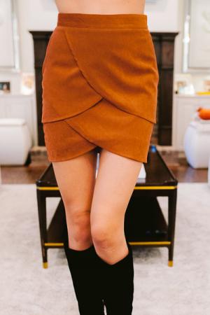Camel Petals Skirt