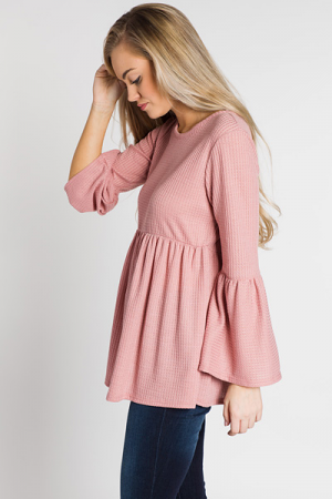 Bethany Thermal Tunic, Mauve