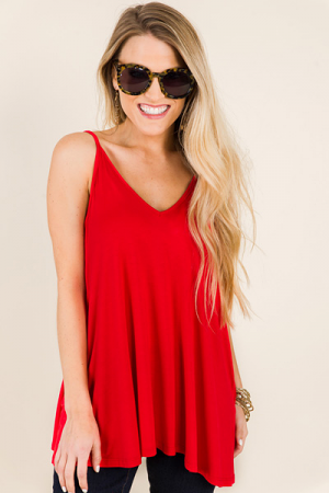 Bamboo Tank, Red