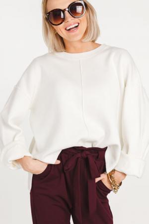 Center Line Sweater, Cream