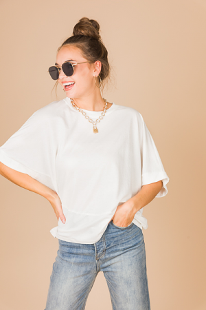 High Style Top, White