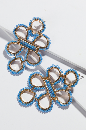 Lisa Loops Earring, Blue
