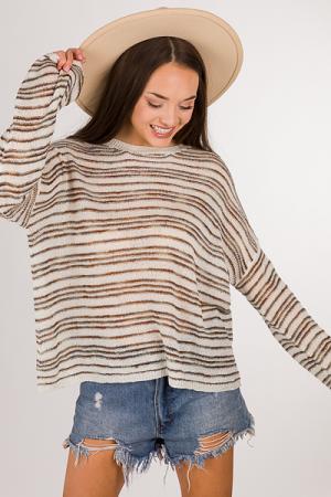 Earth Striped Sweater