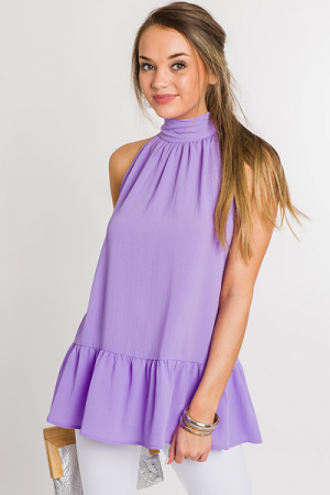 Mock Neck Swing Frock, Orchid