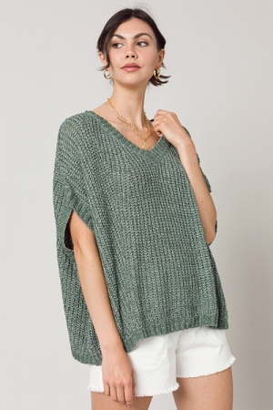 Summer Sleeve Sweater, Green