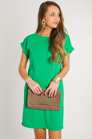 Emma Pocket Dress, Emerald