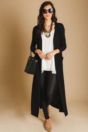 Black Open Duster