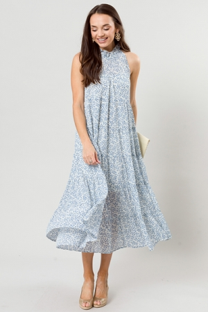 Full of Floral Maxi, Blue