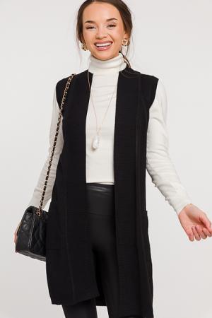 Cici Knit Vest, Black