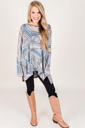 Printed Boxy Sweater