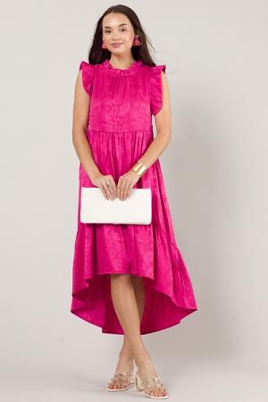 Satin Tonal Feather Midi, Pink