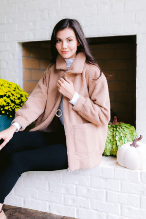 Cozy Latte Zip Jacket