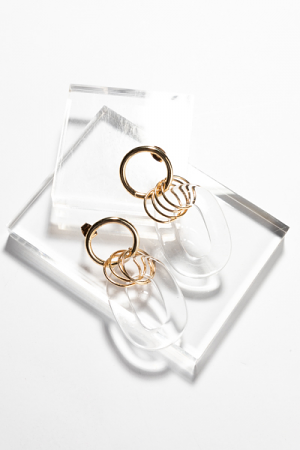 Clear Ovals Earring