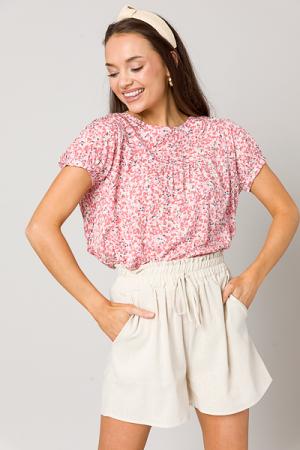 Annie Petal Top, Pink