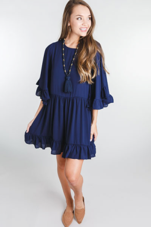 Electric Feeling Dress, Navy