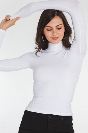 Buttery Soft Turtleneck, White