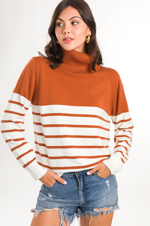 Cognac Stripes Sweater