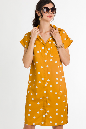 Goldy Pop Shirt Dress