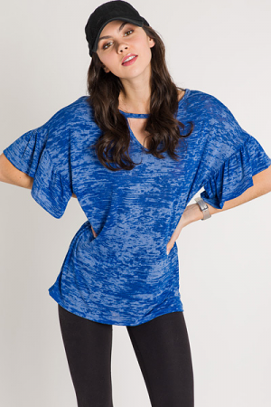 Burnout Tee, Blue
