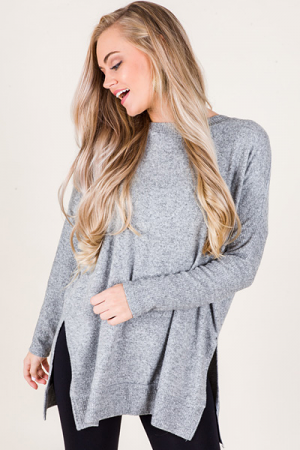Ribbed Sleeve Sweater