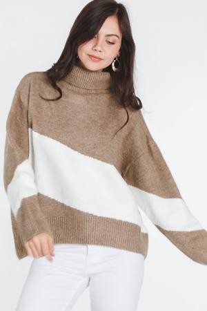 Streaks Sweater, Tan