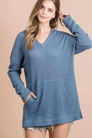 Hooded Thermal Tunic, Blue