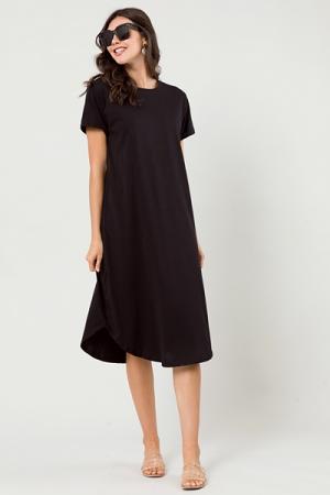 T-Shirt Scoop Maxi, Black