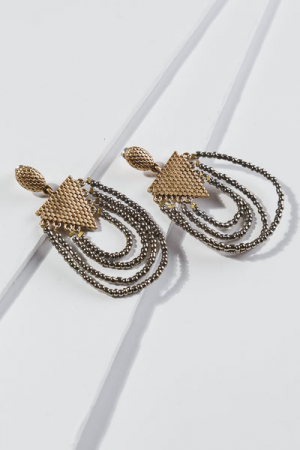 Bronze Beaded Loops