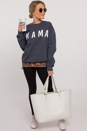 Mama Sweatshirt, Gray