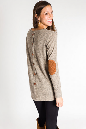 Patch Me Up Tunic, Mocha