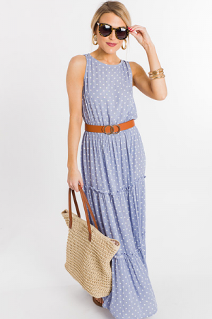 Tiers of Dots Maxi, Blue
