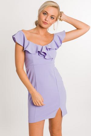 Lilac Body Con Dress