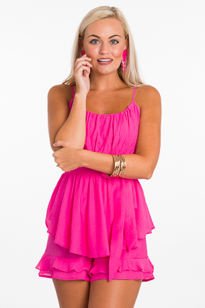 Have Mercy Romper, Pink