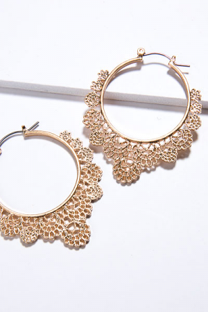 Lace Hoop, Gold