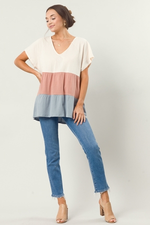 Tiered Colorblock Tunic