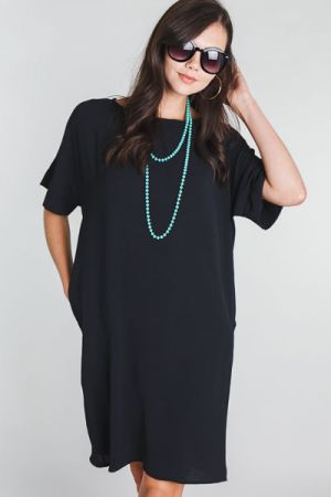 Simple Oversized Dress, Black