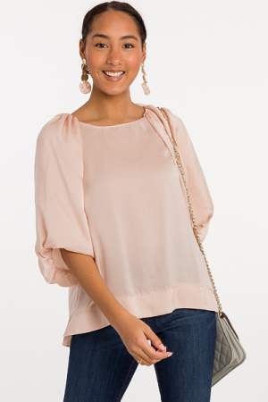 Puff of the Party Blouse, Champagne