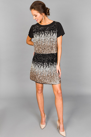 Ombre All Day Sequin Shift