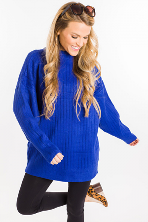 Royalty Ribbed Sweater