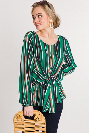 Go Green Striped Blouse