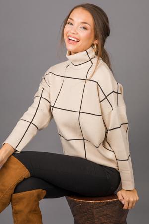 Black Squares Sweater