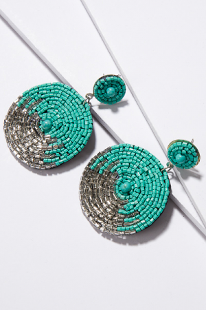 Viva Earrings, Turquoise