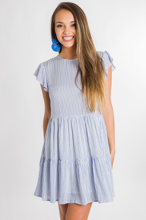 Pinstripe Babydoll Dress