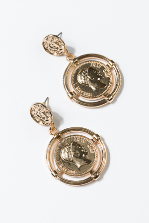 Halo Coin Earring