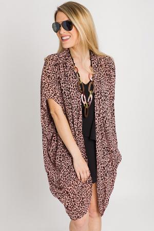 Pink Cheetah Kimono