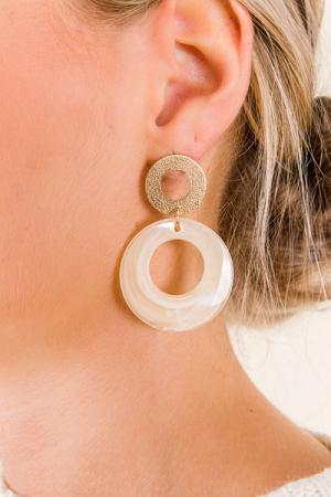 Rolo Earring, Ivory